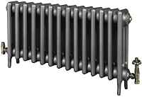 Eastgate Victoriana 3 Column 14 Section Cast Iron Radiator 450mm High x 877mm Wide - Metallic Finish